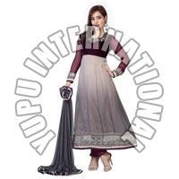 Neha Gray Anarkali Suit
