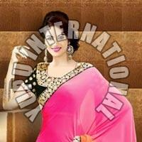 Pink Awesome Half Half Saree