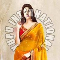 Yellow Half Half Saree