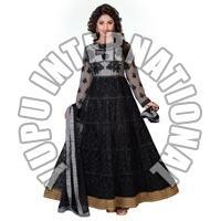 Black Long Anarkali Suit