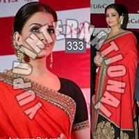 Ashwarya Red Saree
