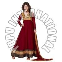 Maroon Anarkali Suit