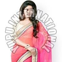 Pink Half Half Fancy Saree