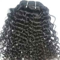 Machine Weft Kinky Curly Human Hair