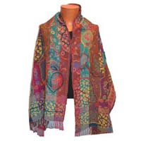 Embroidered Boiled Wool Stoles