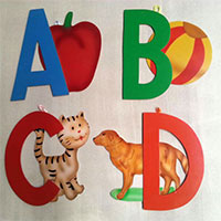 Capital Alphabets With Pictures And Wall Hanging Facility