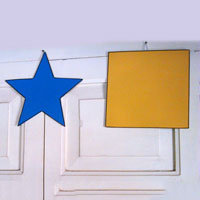 Geometrical Shapes, Different Colours & Wall Hanging
