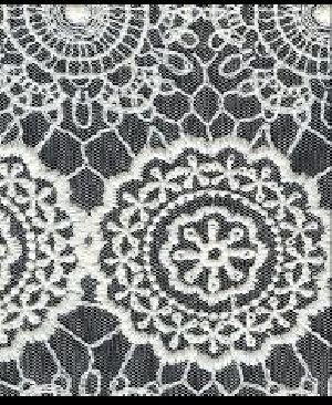 Embroidered Mesh Fabric 01