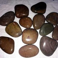 Flat Brown Pebbles