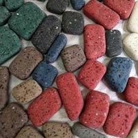 Flat Square Pebbles