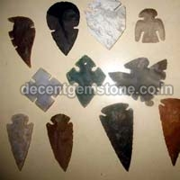 Designer Agate Stone Arrowheads