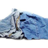 Light Denim Waste Cut Wiper
