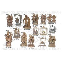 Brass Radha Krishna Statues 01