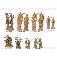 Brass Radha Krishna Statues 03