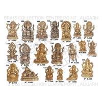Brass Sitting Ganesh Statue 02