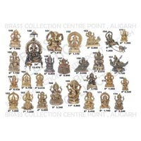 Brass Sitting Ganesh Statue 03