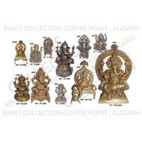 Brass Sitting Ganesh Statue 04