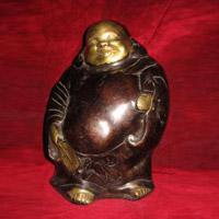 Laughing Buddha Brass Statue