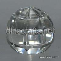 Clear Cut Glass Paper Weight