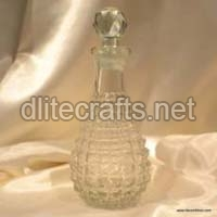 Clear Cut Glass Perfume Bottle And Decanter