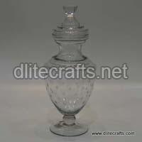 Clear Cutting Glass Jar