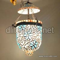 Color Mosaic Hanging Glass