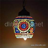 Colour Mosaic Glass Hanging