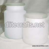 Frosted Glass Jar & Canister