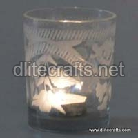Glass Etching Cut Votive