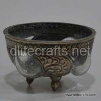 Glass Metale Bowl