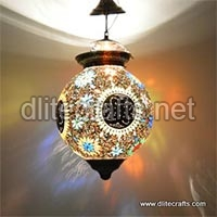 Glass Mosaic Color Hanging Lamp