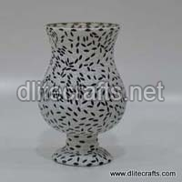Glass Mosaic Work Candle Holder