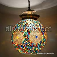 Glass Mosiac Multi Color Hanging