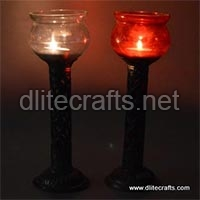 Glass Piller Candle Holder