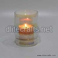 Glass Printed Candle Votive