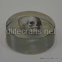 Glass Printed Paper Weight
