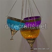 Glass  T-light Candle Holder Hanging