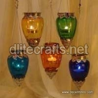 Glass T-Light Hangings