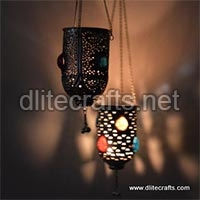Mosaic Glass Hanging Lamp