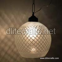 Mosaic Glass Hanging Lamps