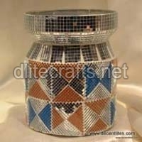Mosaic Glass Jar & Canister