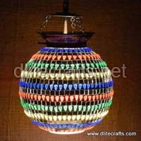 Multi Color Mosaic Glass Hanging