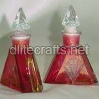 Silver Glass Perfume Bottle And Decanter