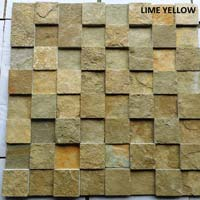 Cubic Lime Yellow 2  Slate Stone