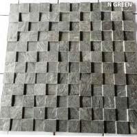 Cubic N Green Slate Stone