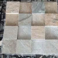 KK White Cubic Quartz Slate Stone