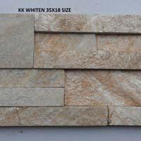 KK White Lines 35X38 Quartz Slate Stone