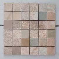 KK White Mosaic Quartz Slate Stone