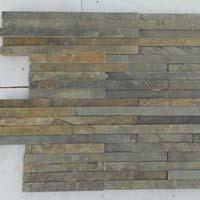 Vijaya Gold 10 Lines Design Slate Stone