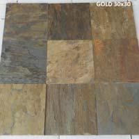 Vijaya Gold 30x30cm Slate  Stone- A